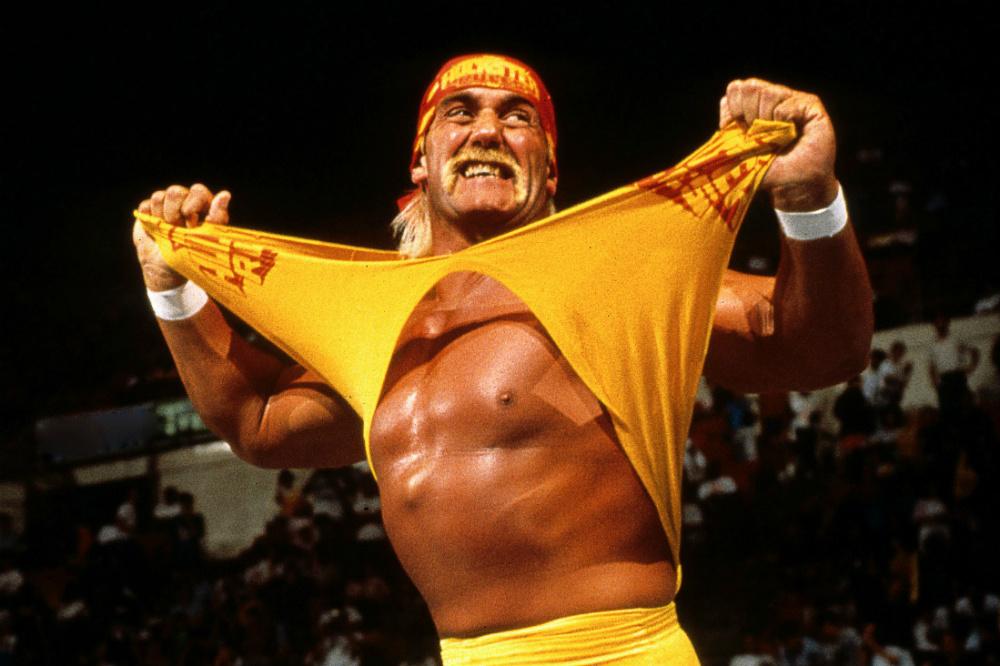 Hulk Hogan en su etapa como luchador de la WWE