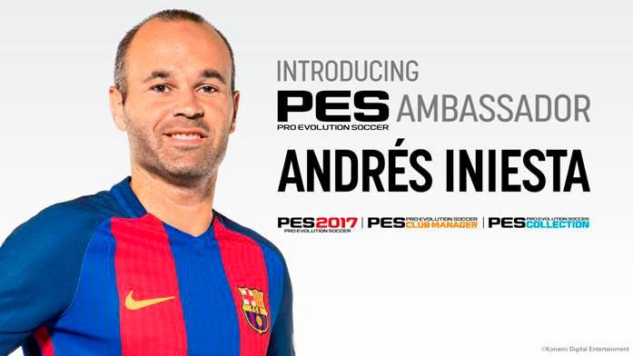 Iniesta embajador PES 2017