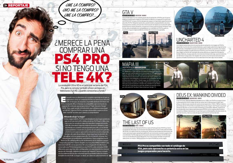 PS4 Pro en Playmania 218