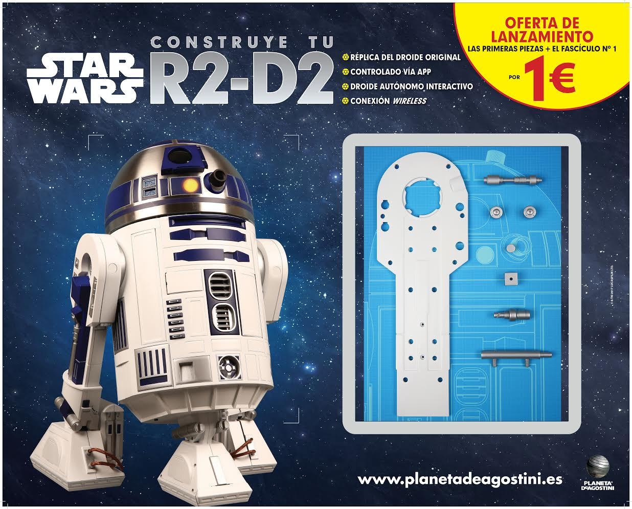 Star wars construye tu propio r2 d2 y descubre su for Planeta de agostini r2d2
