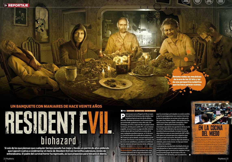 Resident Evil 7 en Playmanía 218