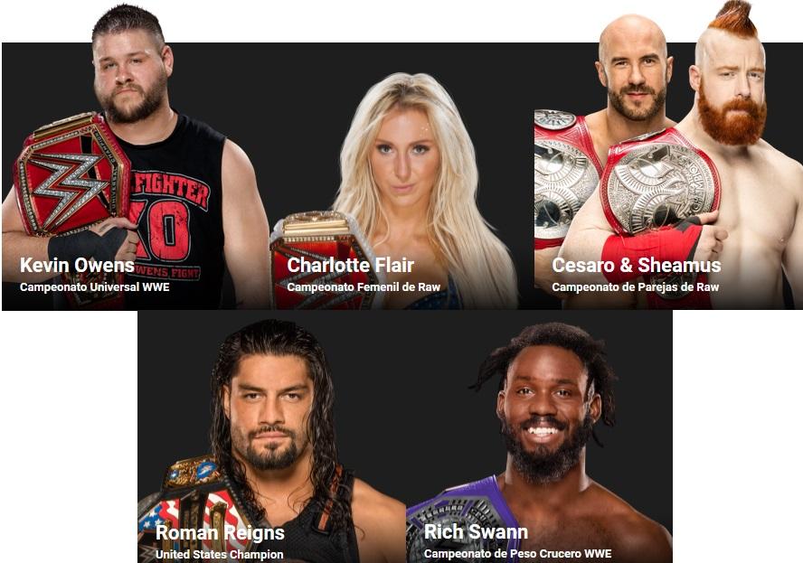 WWE - Campeonatos Raw