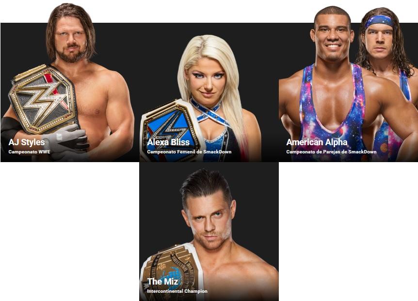 WWE - Campeones de SmackDown Live