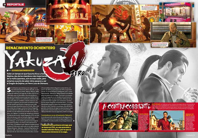 Yakuza 0 en Playmanía 218