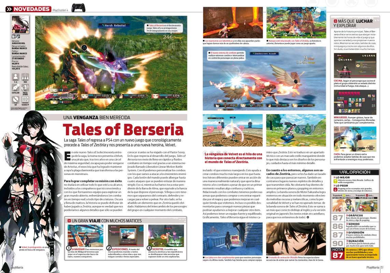 Análisis de Tales of Berseria en Playmania 219