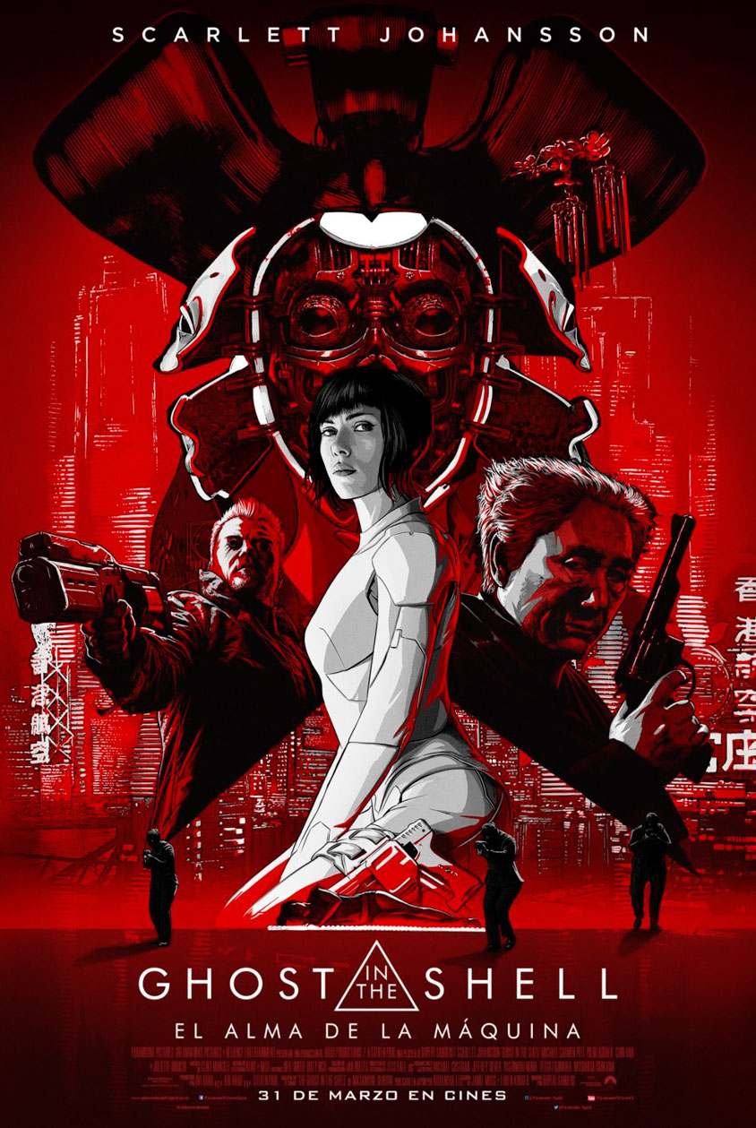 Ghost in the Shell póster español