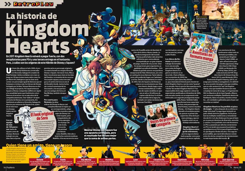 La historia de Kingdom Hearts en Playmania 219