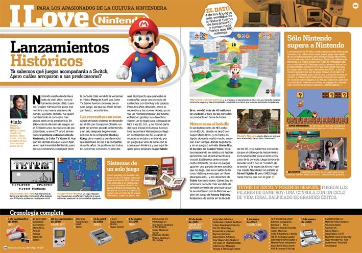La sección retro de la Revista Oficial Nintendo
