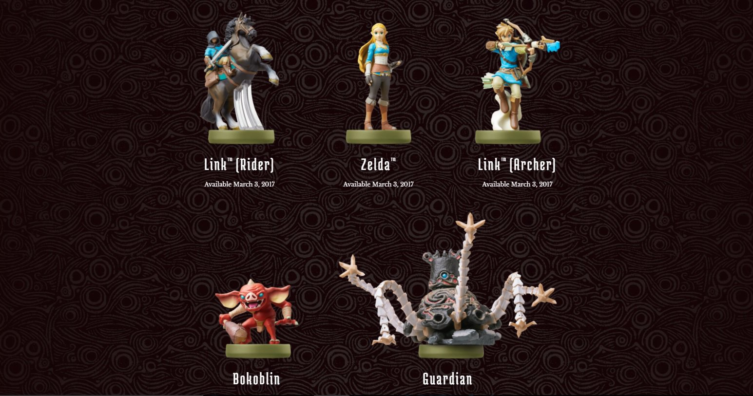The Legend of Zelda Breath of the Wild amiibo