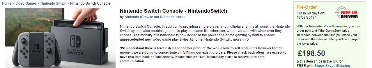 Nintendo Switch GameSeek