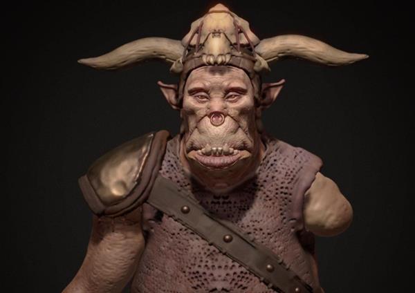 Ogro esculpido a través de una herramienta de Realidad Virtual