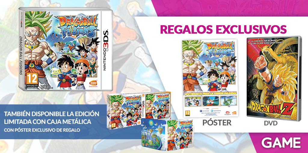 Regalos de reserva de Dragon Ball Fusions en GAME