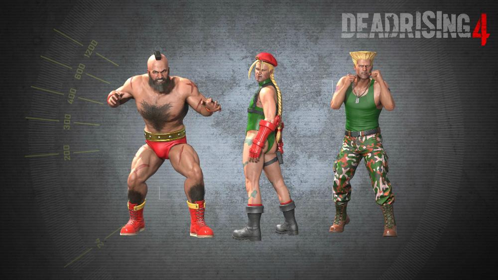 Trajes de Street Fighter para Dead Rising 4