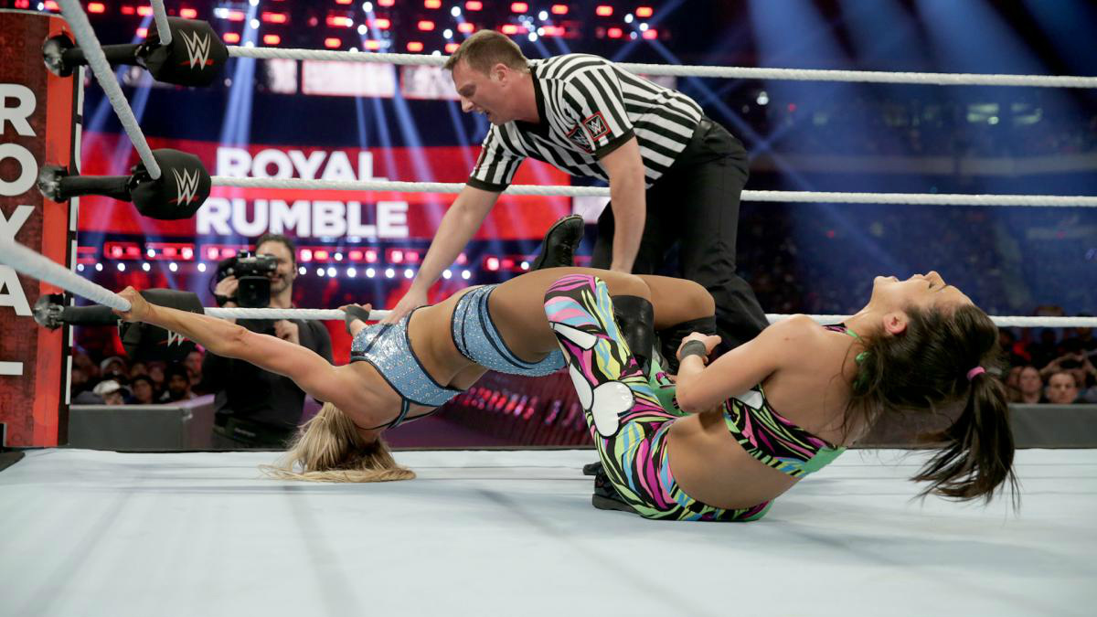 WWE - Charlotte Flair vs Bayley en Royal Rumble 2017
