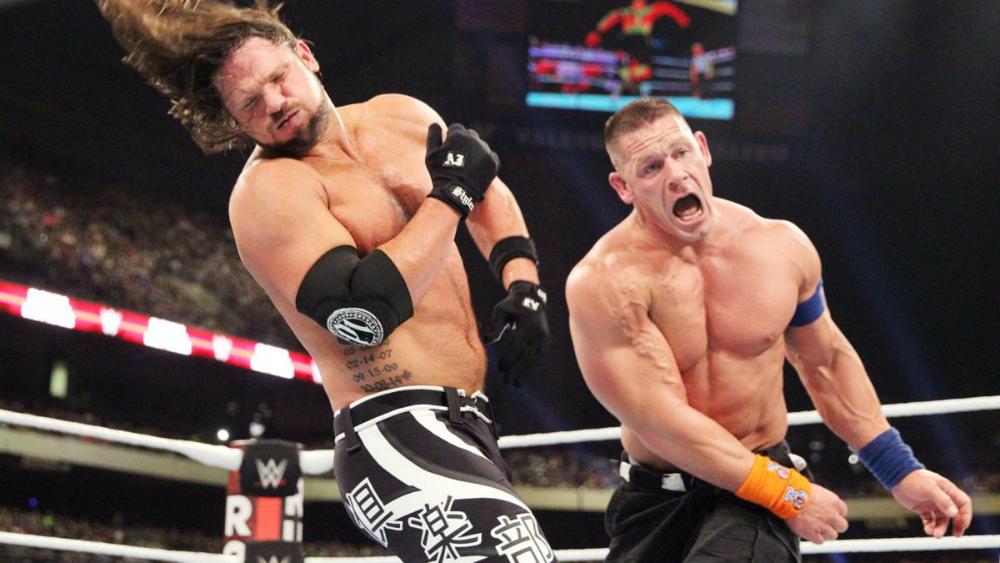 WWE - John Cena vs. AJ Styles en Royal Rumble 2017