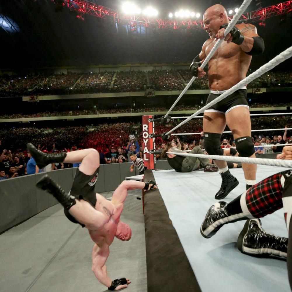 WWE - Lesnar vs. Goldberg en Royal Rumble 2017