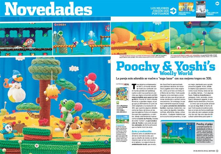 Análisis de Poochy & Yoshi's Woolly World RON 294