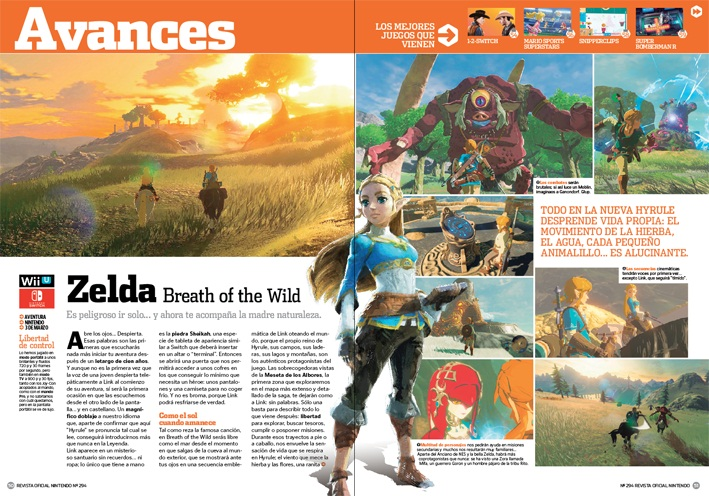 Avance Zelda: Breath of the Wild - RON 294