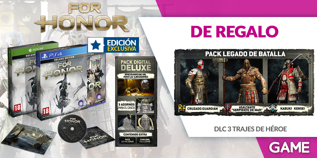 Edición Deluxe de For Honor en GAME