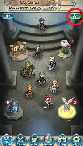 Fire Emblem Heroes castillo