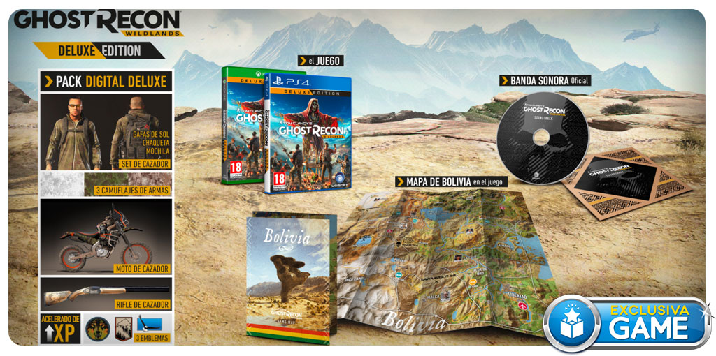 Ghost Recon Wildlands Deluxe Edition exclusiva de GAME