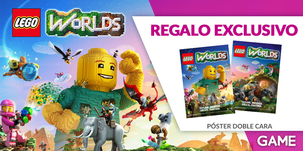 Regalo exclusivo de reserva de LEGO Worlds en GAME