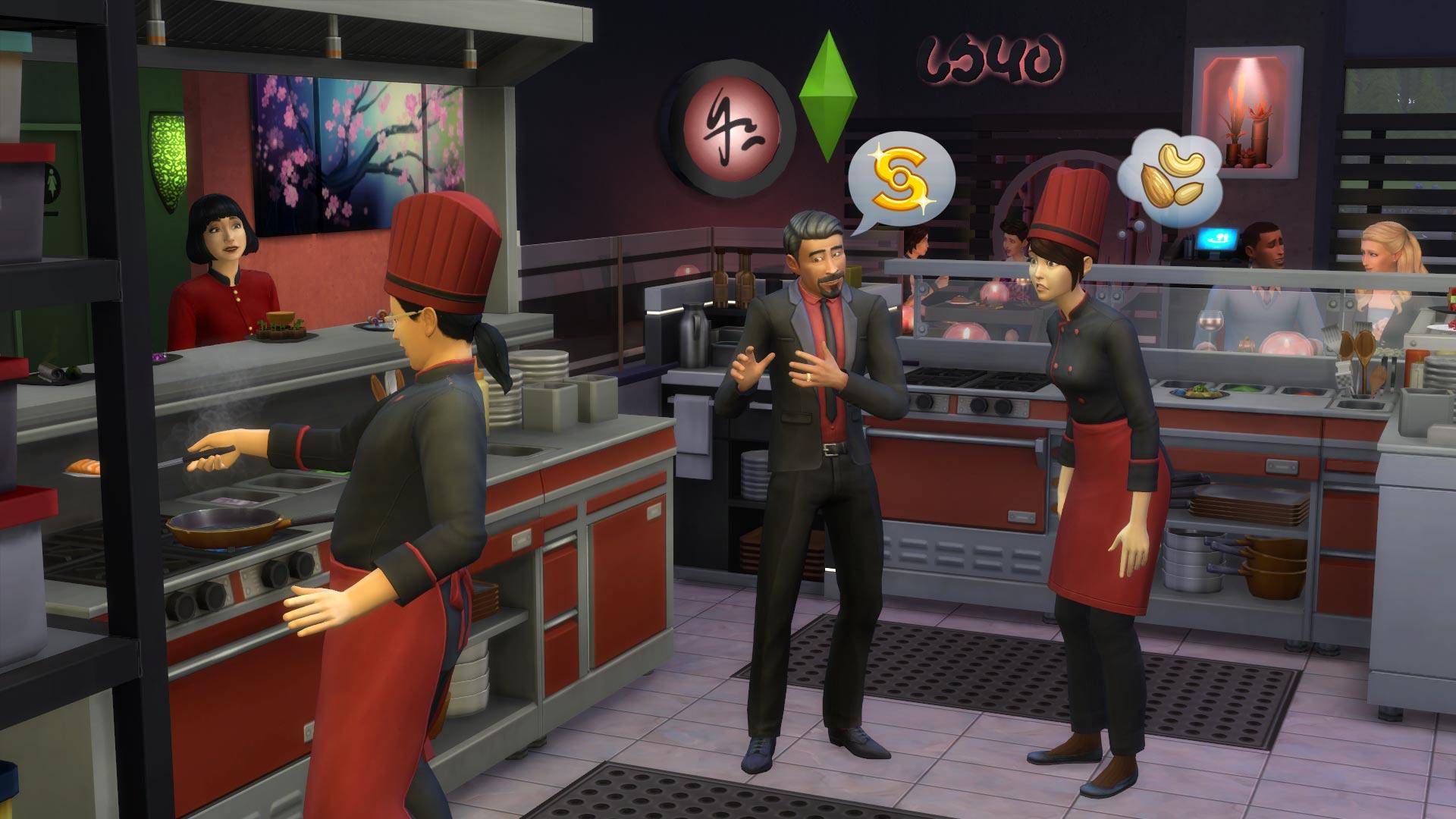 Los Sims 4 pantalla Escapada Gourmet