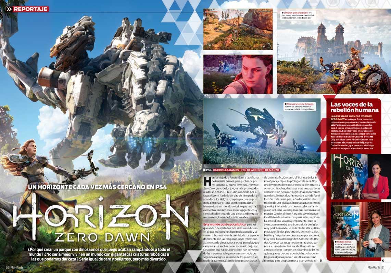 Todo sobre Horizon Zero Dawn en Playmanía 220