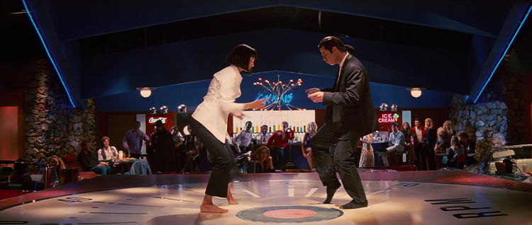 Vincen Vega, John Travolta, Mia Wallace, Uma Thurman