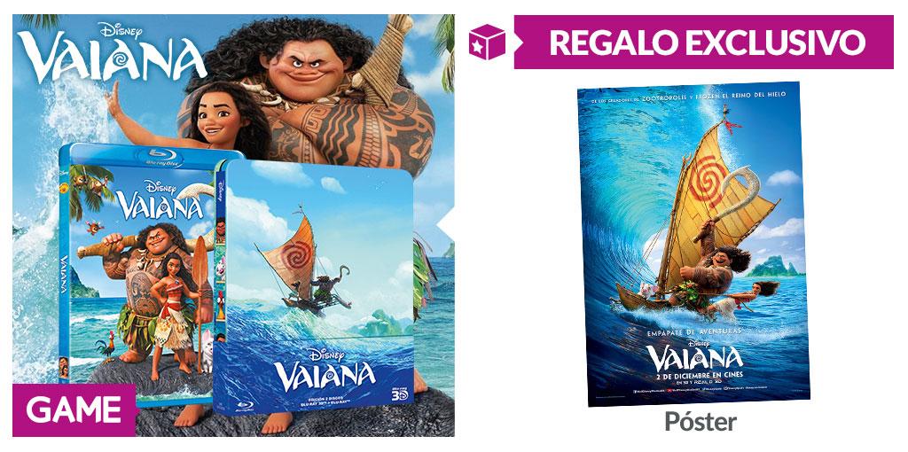 Regalo exclusivo de GAME por la compra de VAiana en Blu-Ray