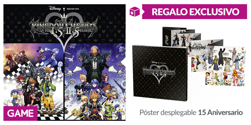 Regalo de reserva de Kingdom Hearts HD 1.5 + 2.5 en GAME