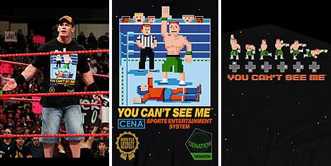WWE - Camiseta de videojuego retro de John Cena