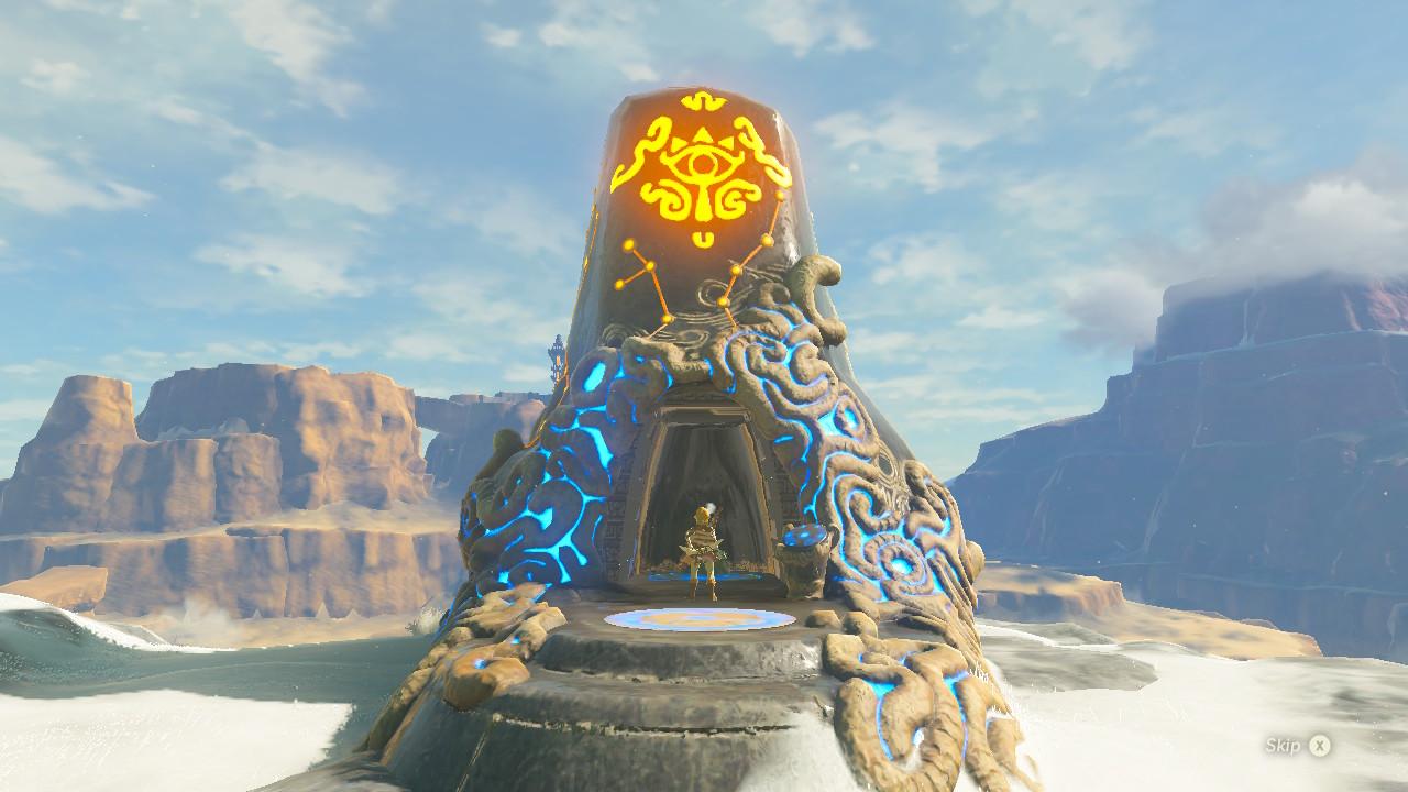 Zelda Breath of the Wild mapa 120 santuarios