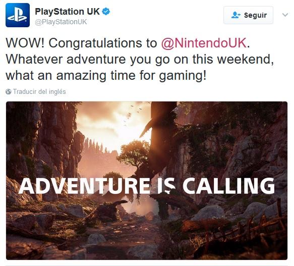 Zelda Breath of the wild - Sony felicita a Nintendo por las notas