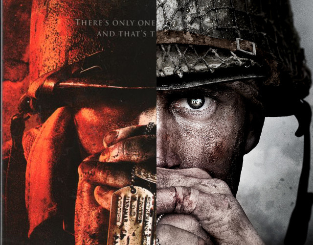 Call of Duty WWII - Comparación de la portada con Brothers in Arms