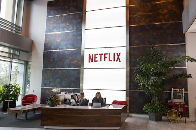 Entrada edificio de Netflix