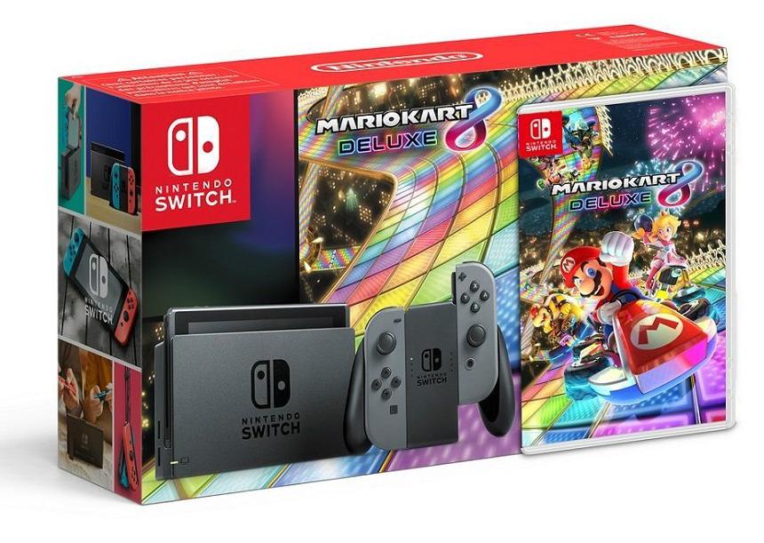 Pack Nintendo Switch y Mario Kart 8 Deluxe