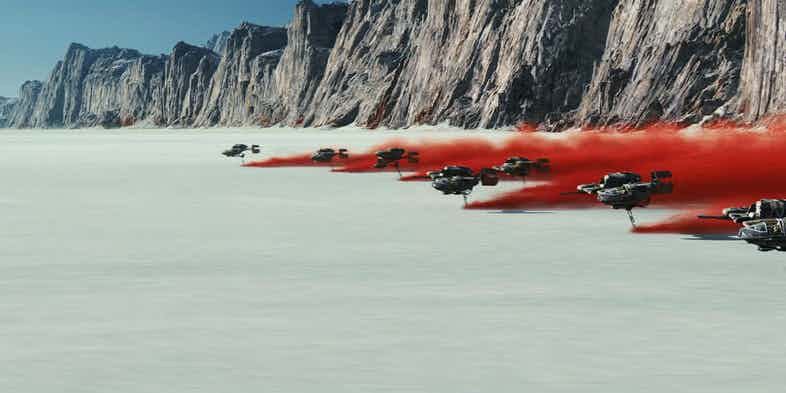Star Wars, Los últimos Jedi, Naves