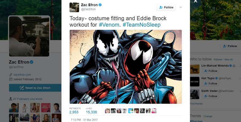 Zack Efron , Marvel, Twitter