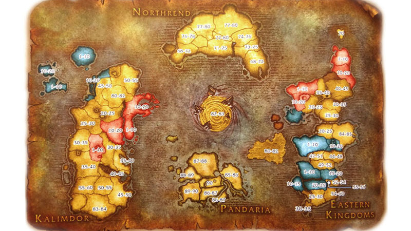 World of Warcraft mapa