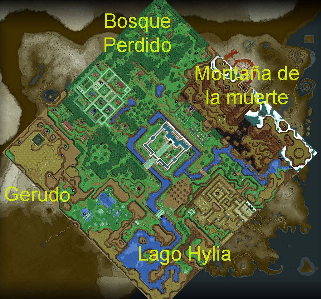 Zelda Breath Of The Wild El Parecido De Su Mapa Con A