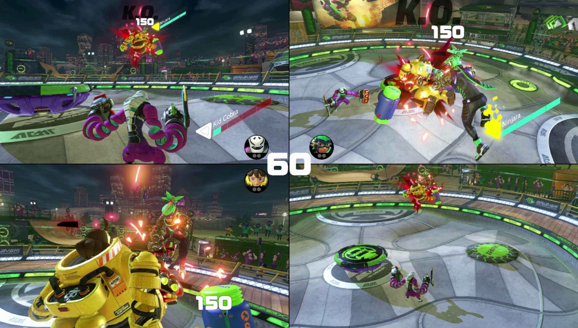 Resultado de imagen para arms nintendo switch multiplayer