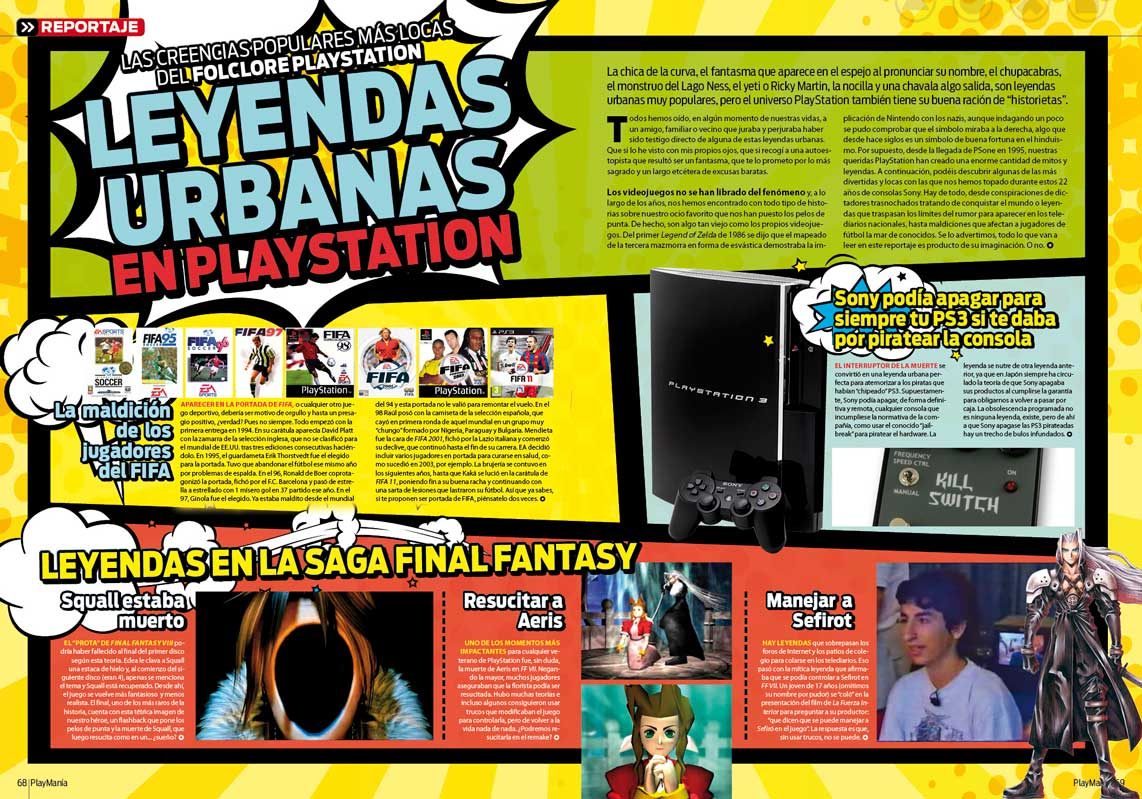 Leyendas Urbanas PlayStation en Playmania 223