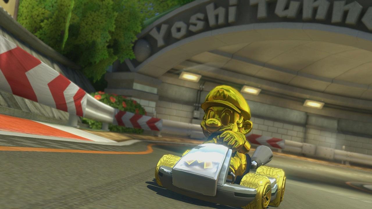 Mario dorado en Mario Kart 8 Deluxe