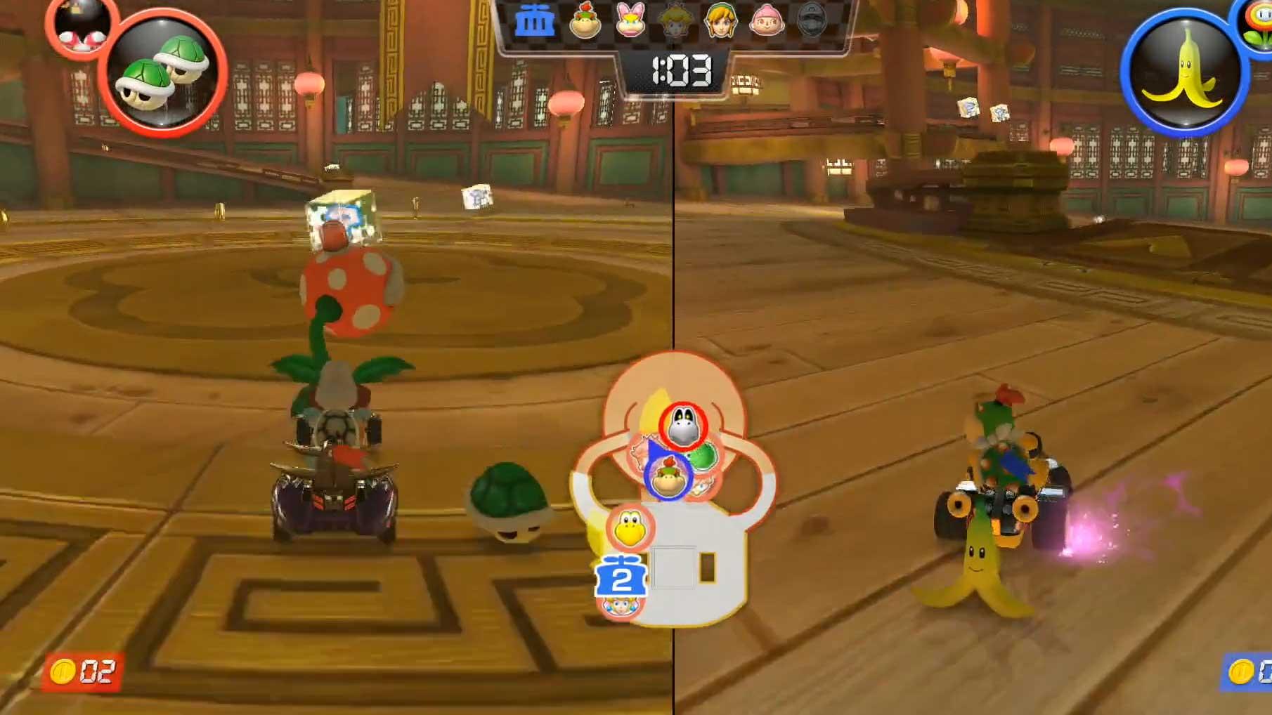 Mario Kart 8 Deluxe patrulla piraña