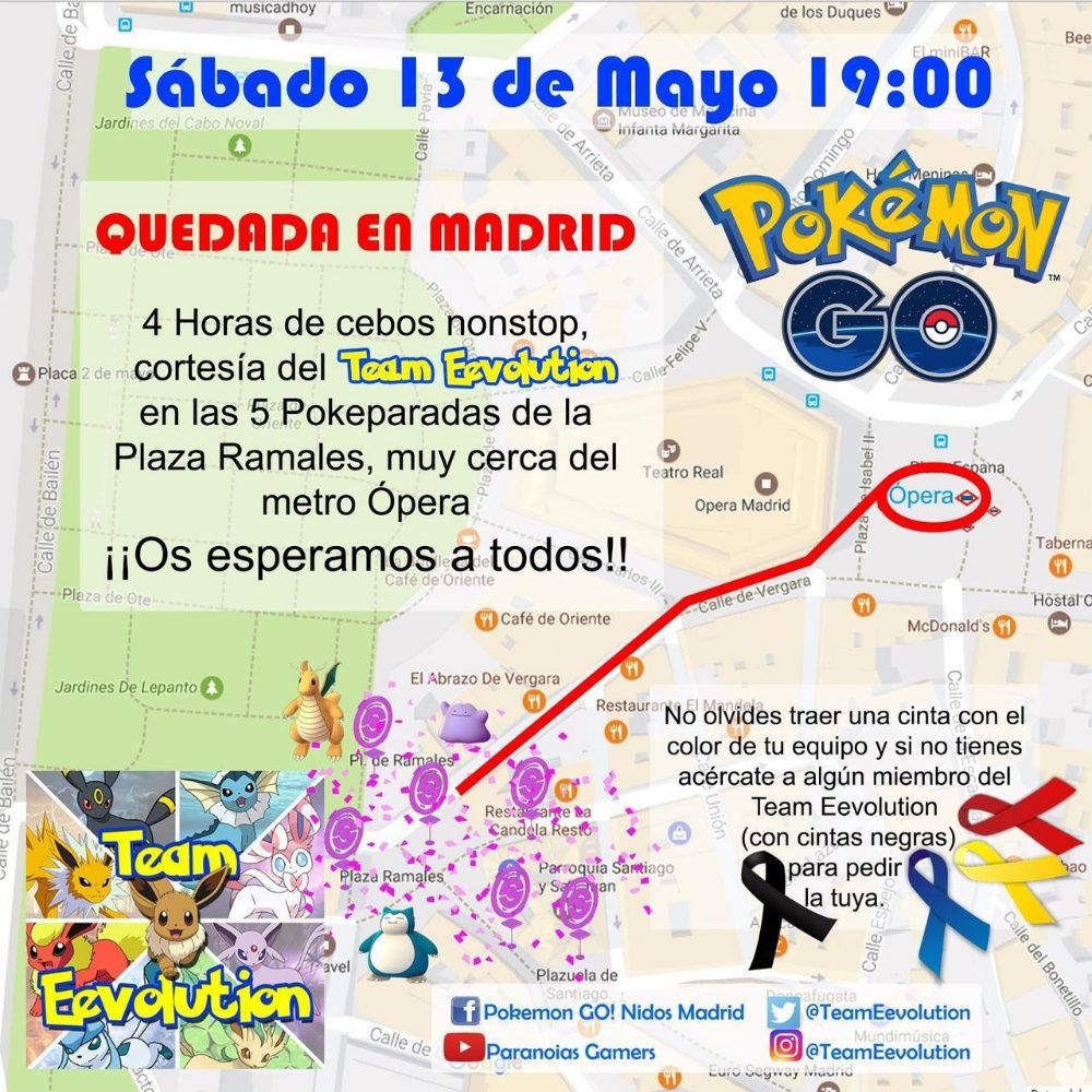 Nueva quedada de Pokémon GO en Madrid