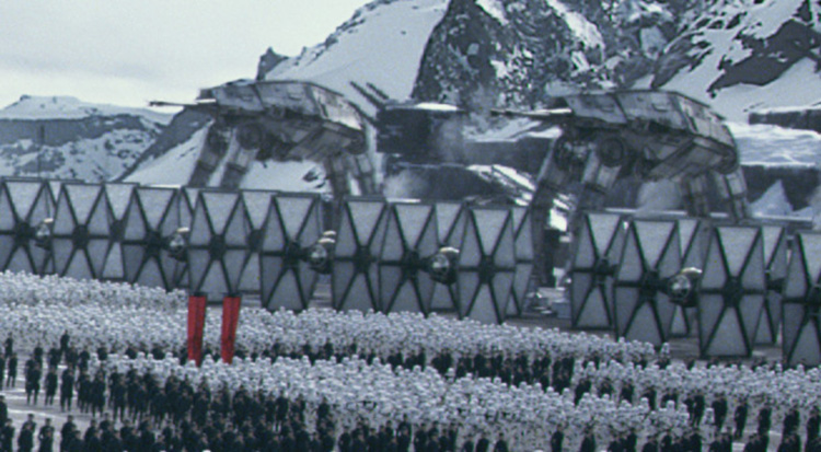 Star Wars: El Despertar de la Fuerza , caminantes imperiales