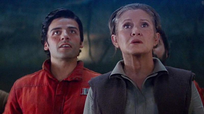 Poe Dameron y Leia Organa