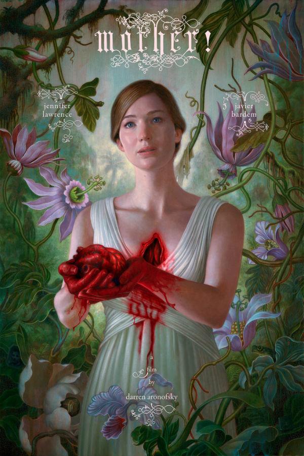 Póster promocional de Mother!, protagonizado por Jennifer Lawrence