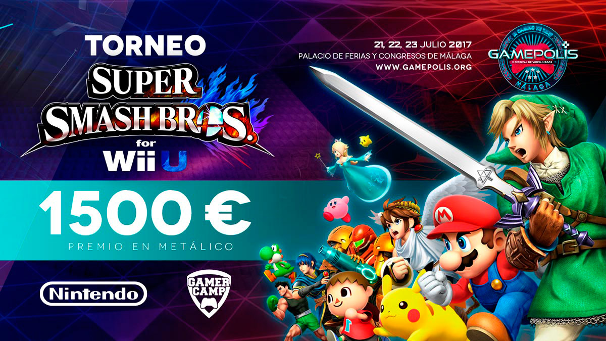 Torneo Super Smash Bros. en Gamepolis 2017